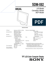 SONY SDM-X82 Service Manual