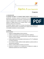 AlgebraA Programa 2º 2018