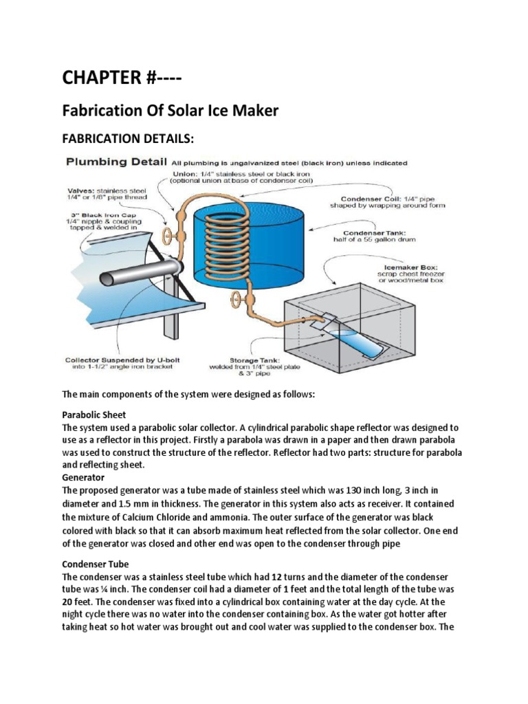 Chapter Fabrication Of Solar Ice Maker