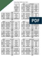 2010-11 FCF Starting Lineups - Week 1