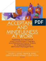 ACT & Mindfulness at Work - Steven C. Hayes, Frank W. Bond, Dermot Barnes-Hol