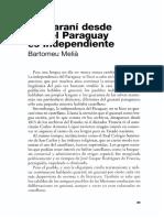Bartomeu Meliá El Guarani Desde Que El Paraguay Es Independiente