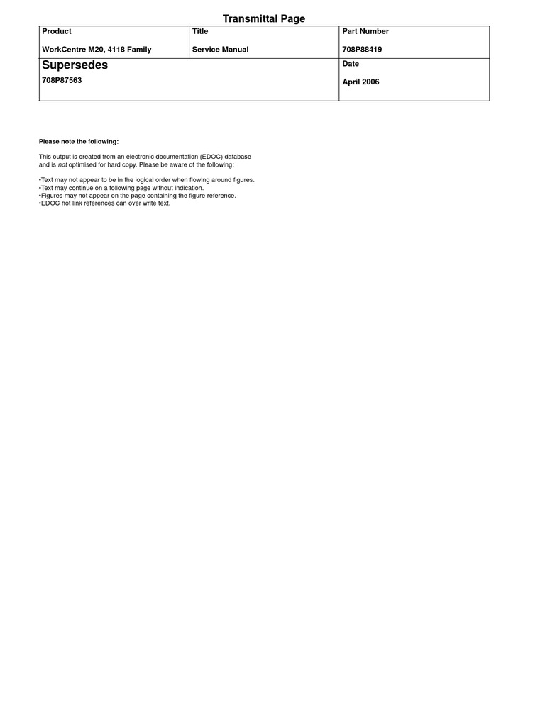 Xerox WC 4118 Service Manual Final- | Electrostatic Discharge |  Electrostatics