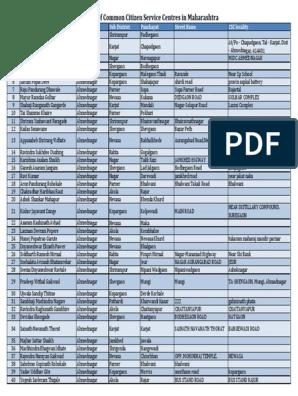 Address of CSCs in Maharashtra pdf