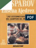 Kasparov enseña ajedrez