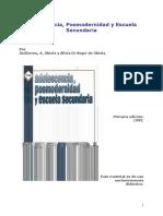 Adolescencia, Posmodernidad y Escuela Secundaria - Obiols, G. y Di Segnis de Obiols S.