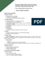 Concurso Capelão 2019 Assuntos