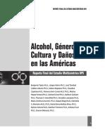 ALCOHOL, GENERO , CULTURA Y DAÑOS EN LAS AMERICAS