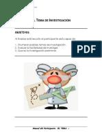 03 Manual Del Participante-El Tema de Investigación 0