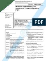 NBR 8400 - Calculo de equipamento para levantamento e movimentacao de cargas.pdf