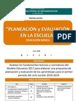 Planeacion y Evaluación en La Escuela