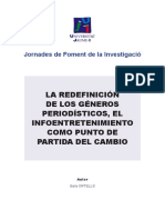 Redefinicion de Géneros Periodisticos - Infoentertenimiento Sara Ortells