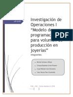 Proyecto IO-1 Joyas
