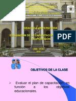 8º Clase Evaluacion de La Capacitacion, Monitoreo y Supervision