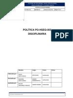 PO HSEQ 005 Politica Disciplinaria