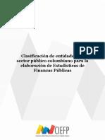 Documento de clasificación de entidades del sector público colombiano