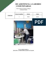 Informe de Asistencia a Labores Comunitarias
