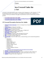 preventive services covered under the affordable care act   hhs