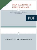 2. Dokumen Validasi Di Industri Farmasi