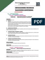 Especificaciones Tecnicas ii.ss.
