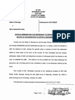 State Demand for Defendant to Provide Written Notice of Intention to Offer Alibi