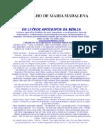 Apócrifos - O Evangelho de Maria Madalena.doc