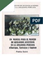 MANUAL PARA EL MANEJO DE QUELONIOS ACUATICOS