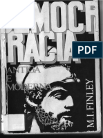Moses I. Finley - Democracia antiga e moderna (trechos selecionados)