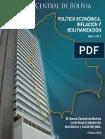 Politica Economica Inflacion y Bolivianizacion
