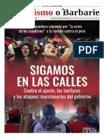Semanario Socialismo o Barbarie 482