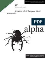 Esapi4php Core 1.0a Install Guide