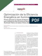 Optimización de la Eficiencia Energética en Iluminación