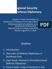 Thayer Regional Security and Defense Diplomacy (Power Point slides)