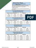Loveland School Flasher Schedule