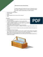 Fabricación de Cocina Solar Económica