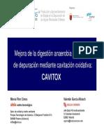 Mejora de La Digestión Anaerobia de Fangos de Depuración Mediante Cavitación Oxidativa - CAVITOX