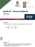 Auxiliar 1 - Tensor de Esfuerzo