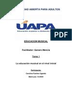 TAREA 1 EDUCACIÓN MUSICAL