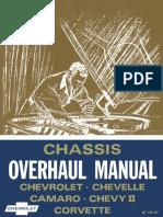 1967 Chevrolet Chevelle Camaro Chevyii Corvette Overhaul Manual