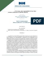 Ley 12-2011, De 27 de Mayo, Sobre Responsabilidad Civil Por Daños Nucleares o Producidos Por Materiales Radiactivos (1)