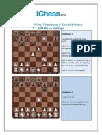 1 e4 Alekhine Francesa y Escandinava - Problemas