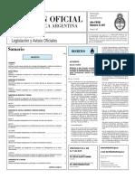 El Boletín Oficial del 22 de mayo de 2010 - Decreto de la Hidrovía