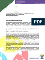 Carta Consejo Nacional - Foro Interamericano[1]