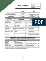 Perfil del cargo  Coordinador de Selección