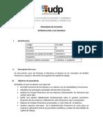 Prog Introducción a Las Finanzas 1s2018