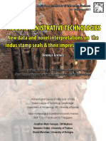 Indus Administrative Technologies. New data and novel interpretations on the Indus stamp seals and their impressions on clay (Dennys Frenez 2017)