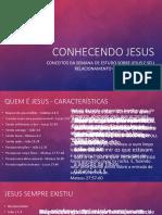 Semana 1 - Conhecendo Jesus