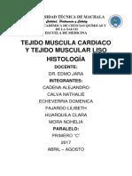 Informe Histologia Tejido MuscularClara