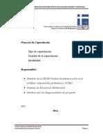 Guia Para La Presentacion de Proyectos de Cursos de Capacitacion