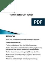 Teknik Memanjat Tower